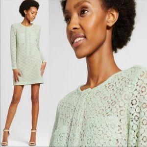 Victoria Beckham mint green lace dress